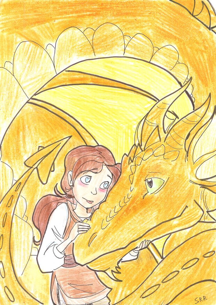 Ashley and the Dragon by gelfnig