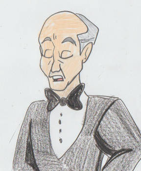 The butler Wilfred Harris