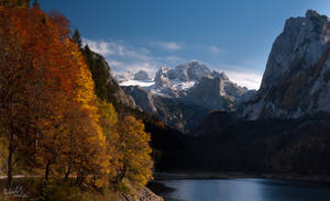 glacier in autumn by MadMike27