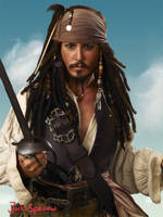 Captain Jack Sparrow by DevineSilence