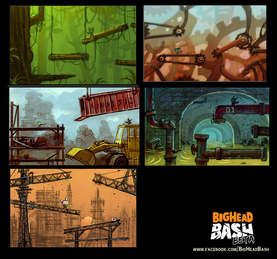 Big Head Bash area maps by SpicyHorseOfficial