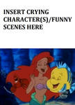 Ariel, Flounder and Sebastian laughing at who meme