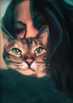 Beautiful Kitty Cat in a Blanket