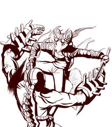 Commission Inks-Iridon by Boneitis