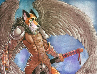 Have YOU Been Blessed by the Katana Angel Fox Toda by Boneitis