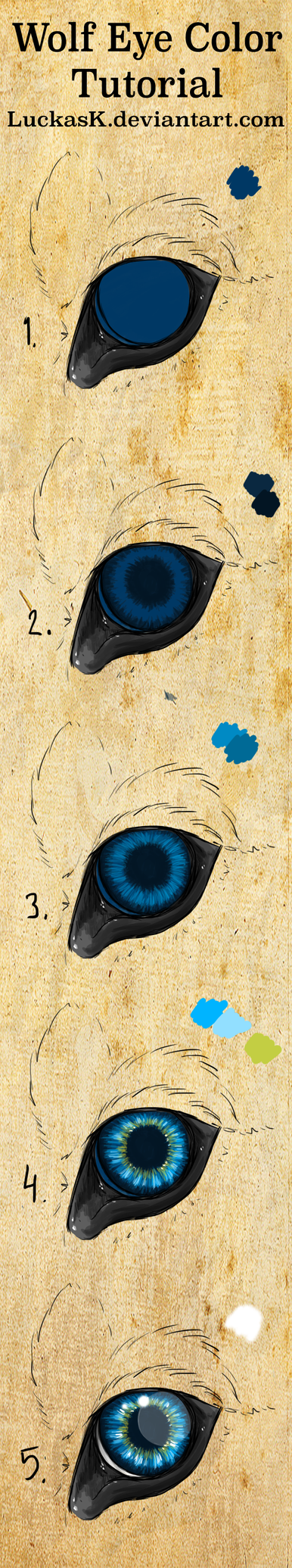 Wolf eye coloring tutorial (without text) by CasArtss