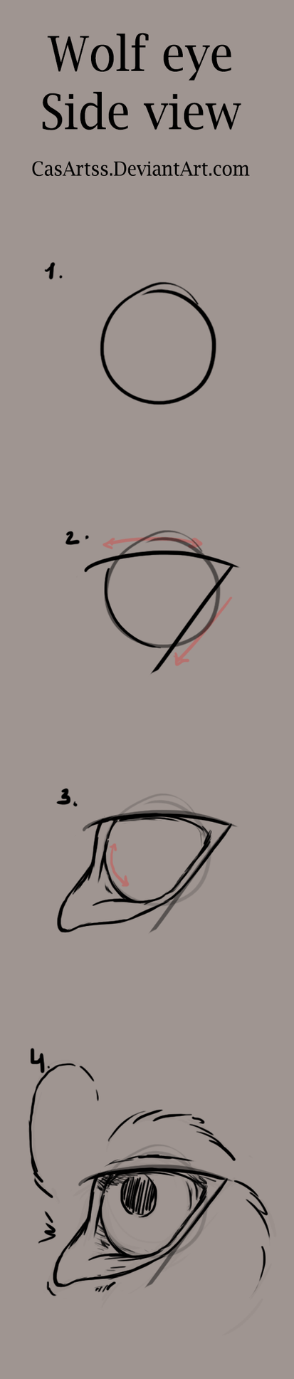 Wolf eye tutorial (side view) by CasArtss