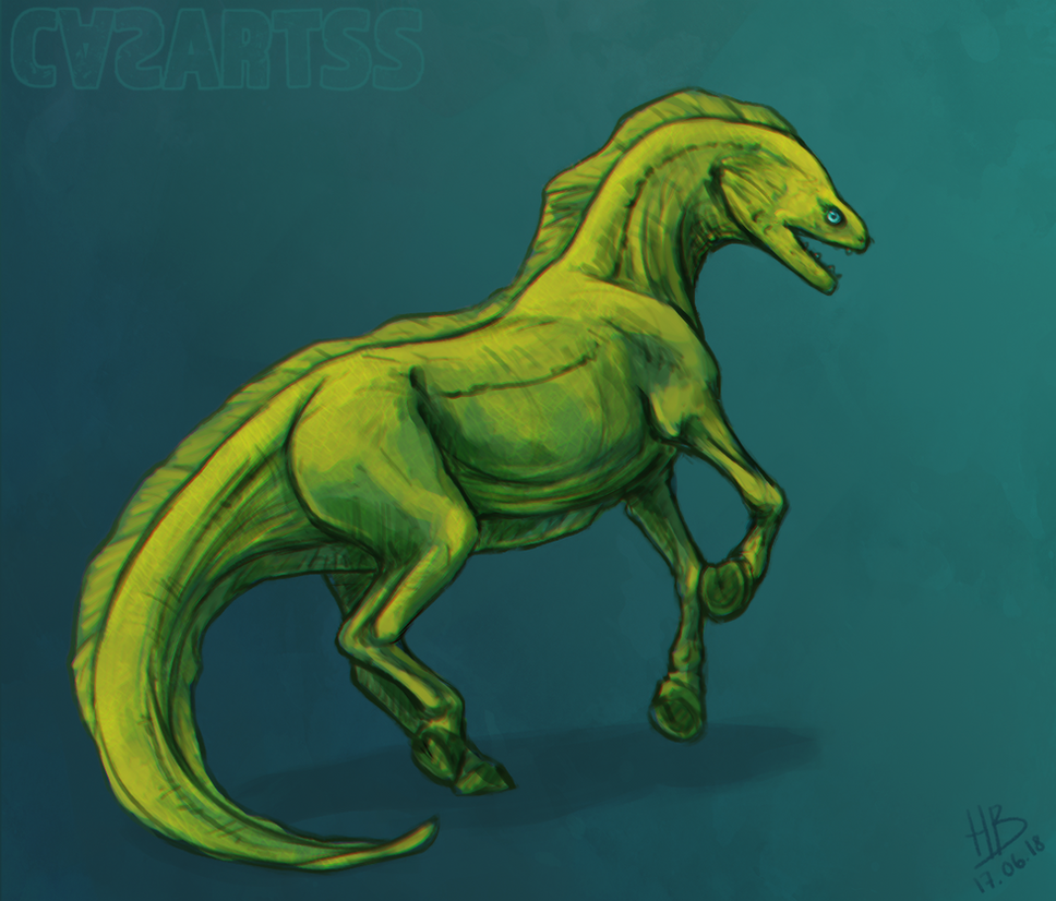 Creature challenge - Moray eel x horse by CasArtss on DeviantArt