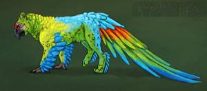 Creature challenge - Macaw x snowleopard by CasArtss