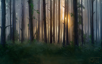 FREE Background - Forest by CasArtss