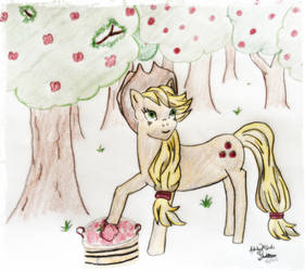 Applejack in the Orchard