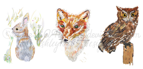 My Brand's Woodland Animals in Watercolor