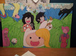 Adventure Time! Girl and Boy Posters