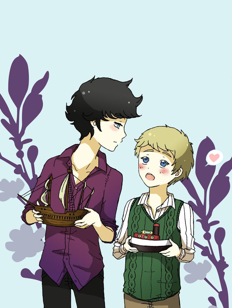 Shipping Sherlock and John by Bianchina