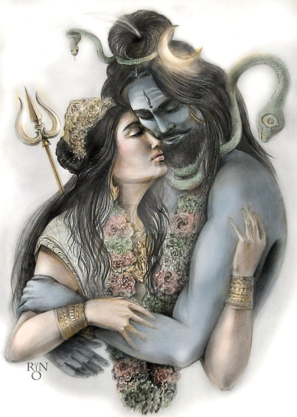 Shiva and Parvati by RinRio