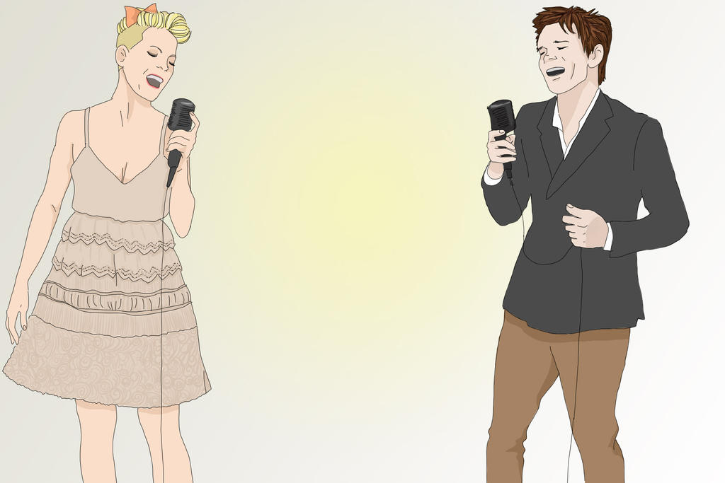 Nate Ruess and Pink by EliseStardust