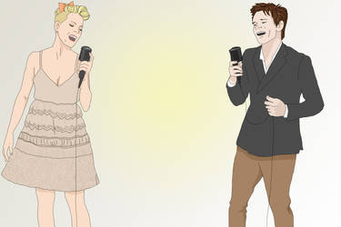Nate Ruess and Pink