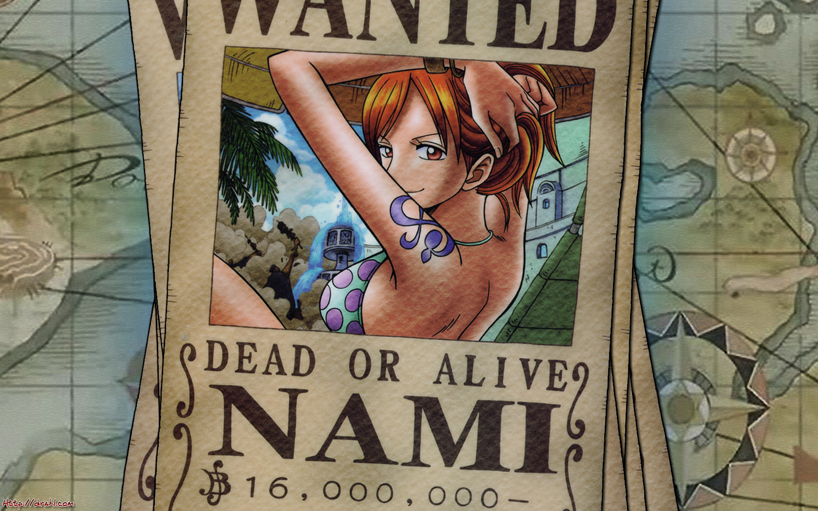 One Piece - Nami Wanted by DharionDrahl