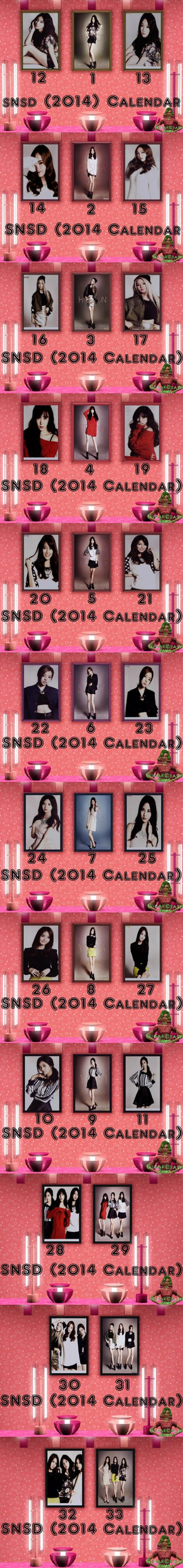 SNSD (2014 Calendar) Pictures-Sims3 by babygreenlizard