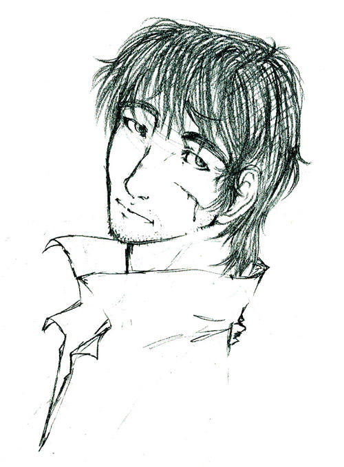 Trigun Portraits: Wolfwood by Luna-Kitsune-Blu