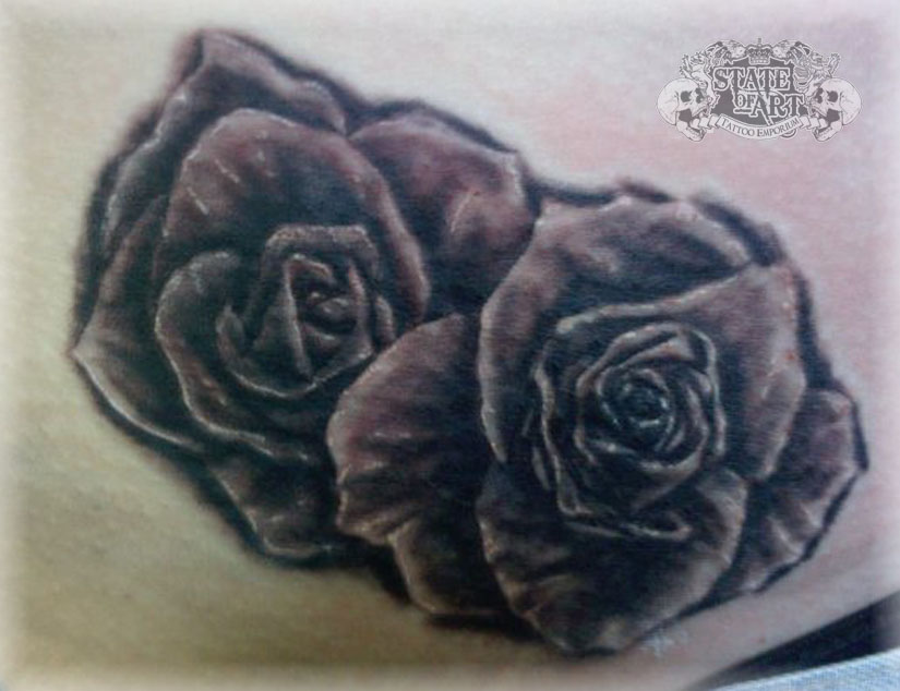 Roses by state of art tattoo on deviantart for State of the art tattoo