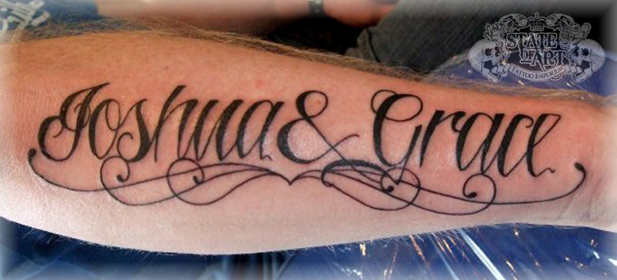 Forearm name tattoo cost for Forearm tattoo cost