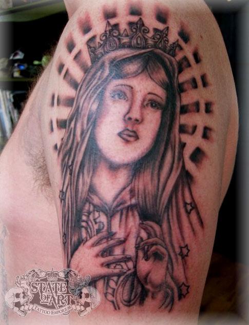 Virgin Mary by stateofarttattoo on deviantART