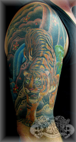 Oriental tiger sleeve by stateofarttattoo on deviantART