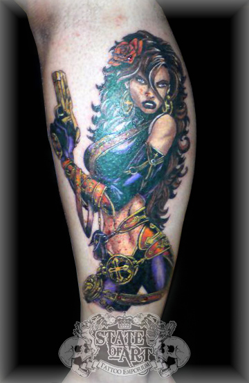 Female character by state of art tattoo on deviantart for State of the art tattoo