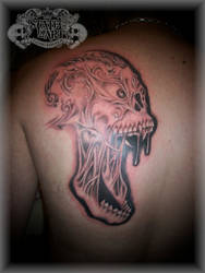 Screaming Skull by state-of-art-tattoo