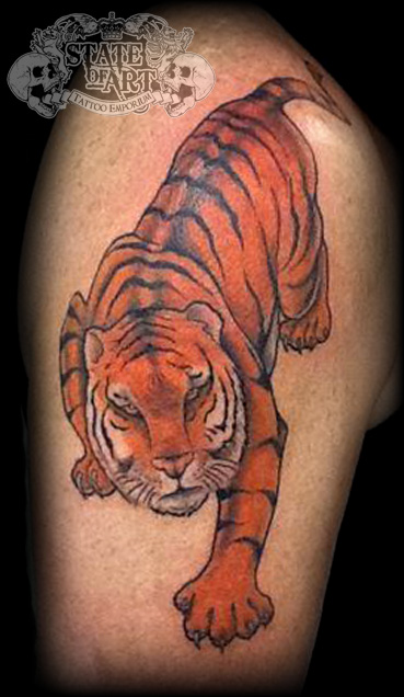 Tiger by state of art tattoo on deviantart for State of the art tattoo