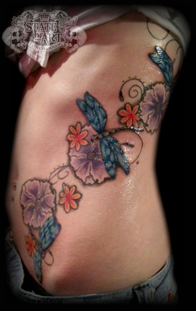 Dragonfly rib design by state of art tattoo on deviantart for State of the art tattoo