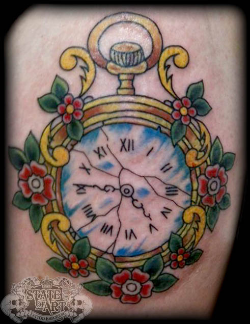 Traditional clock by state-of-art-tattoo on DeviantArt