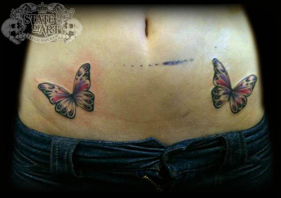 Butterflies by state of art tattoo on deviantart for State of the art tattoo