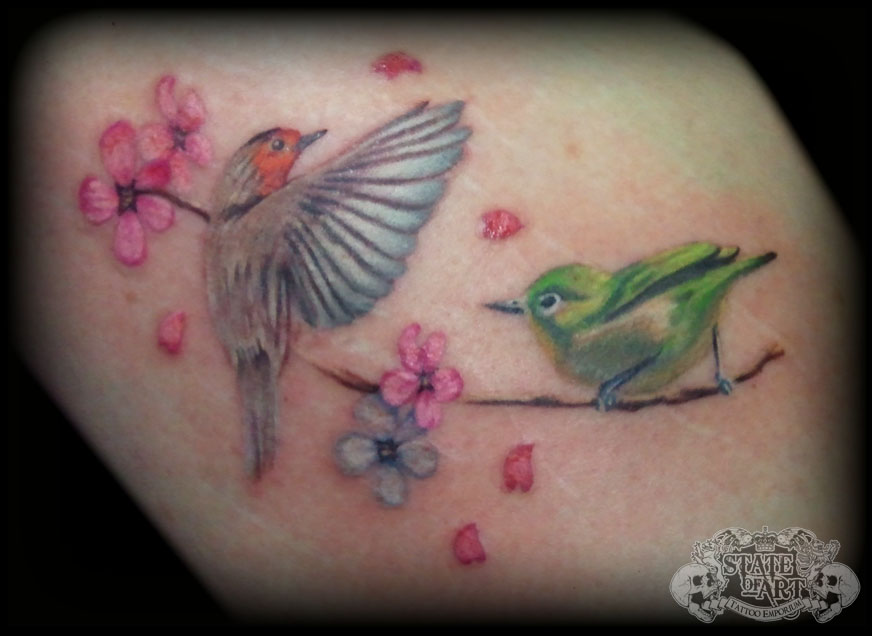 Robin Bird Tattoo