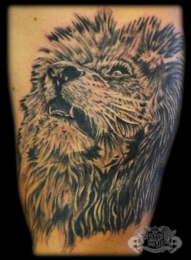 Lion by state of art tattoo on deviantart for State of the art tattoo