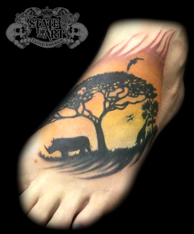 Sunset by state of art tattoo on deviantart for State of the art tattoo