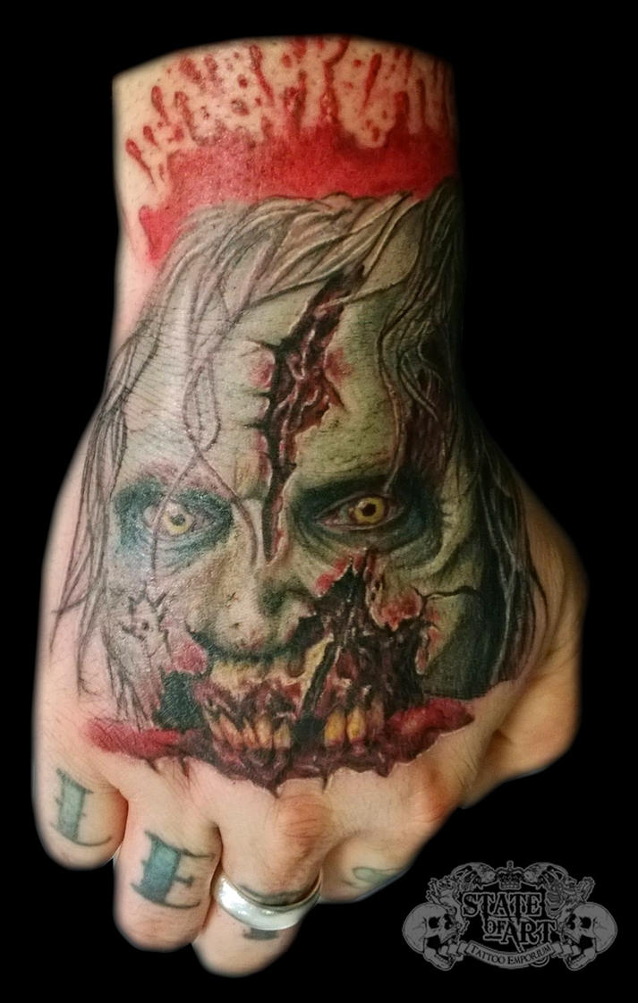 Zombie by state of art tattoo on deviantart for State of the art tattoo