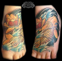Koi foot by state-of-art-tattoo