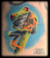 Frog by state-of-art-tattoo