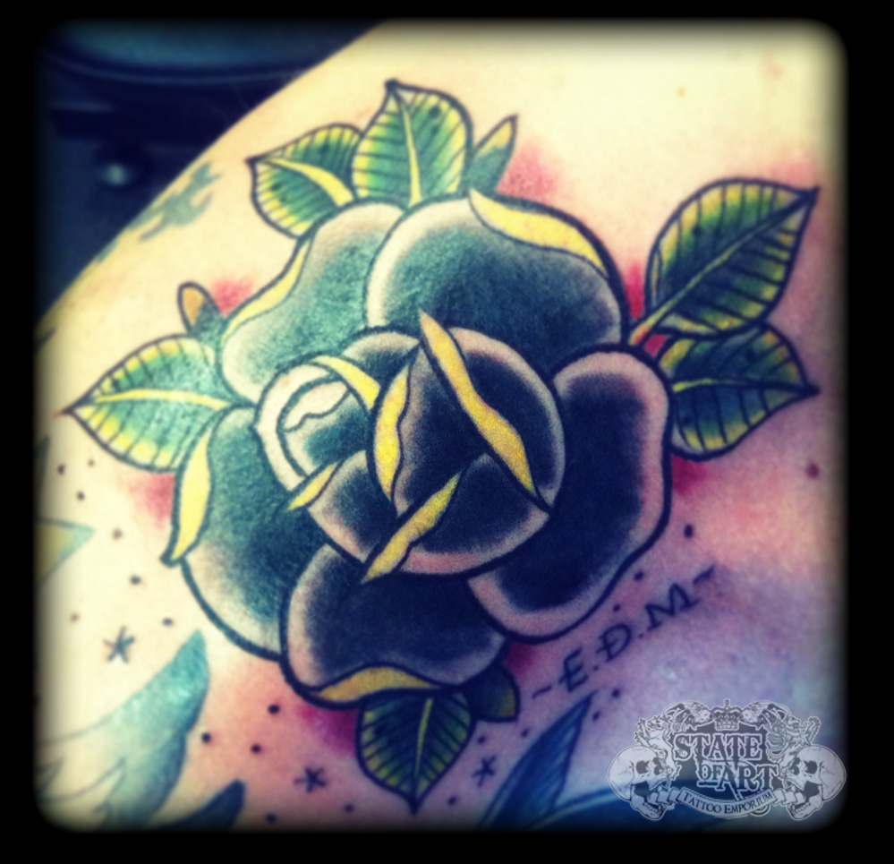 Rose by state of art tattoo on deviantart for State of the art tattoo