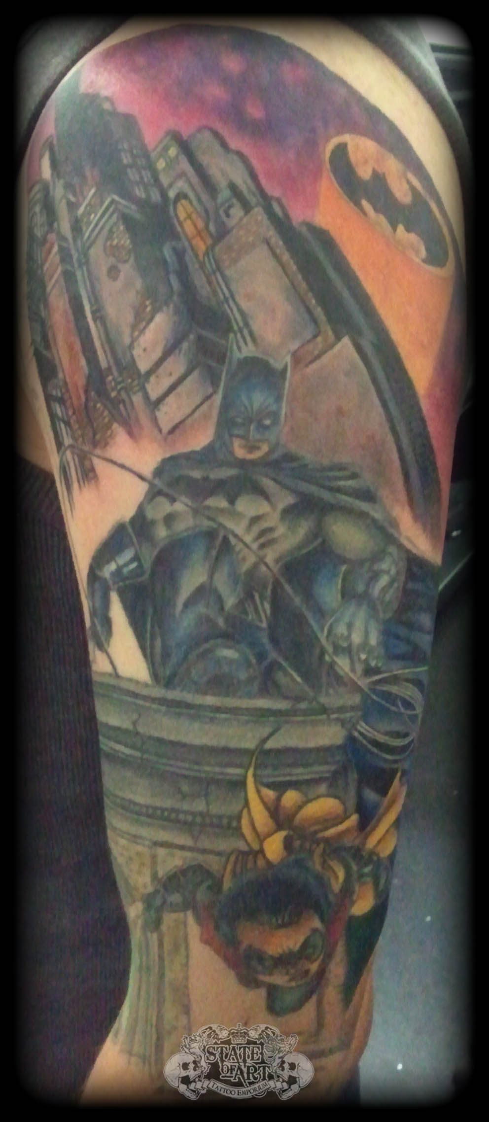 Batman by state of art tattoo on deviantart for State of the art tattoo