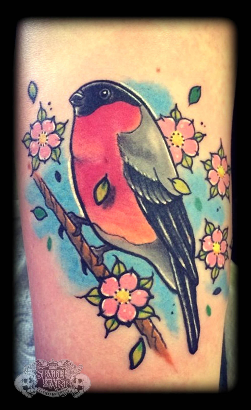Bird by state of art tattoo on deviantart for State of the art tattoo