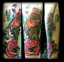 Ewok by state-of-art-tattoo
