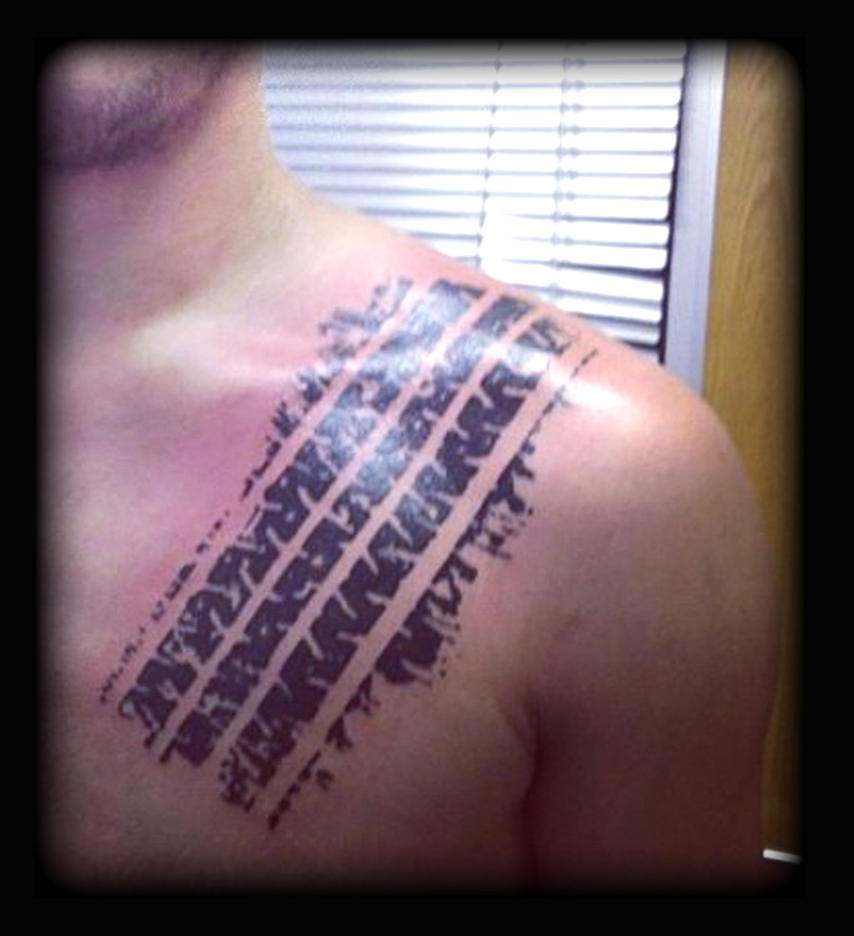 Tyre track by state-of-art-tattoo