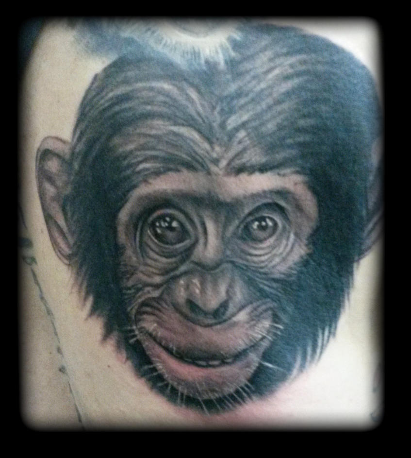 Chimp by state-of-art-tattoo