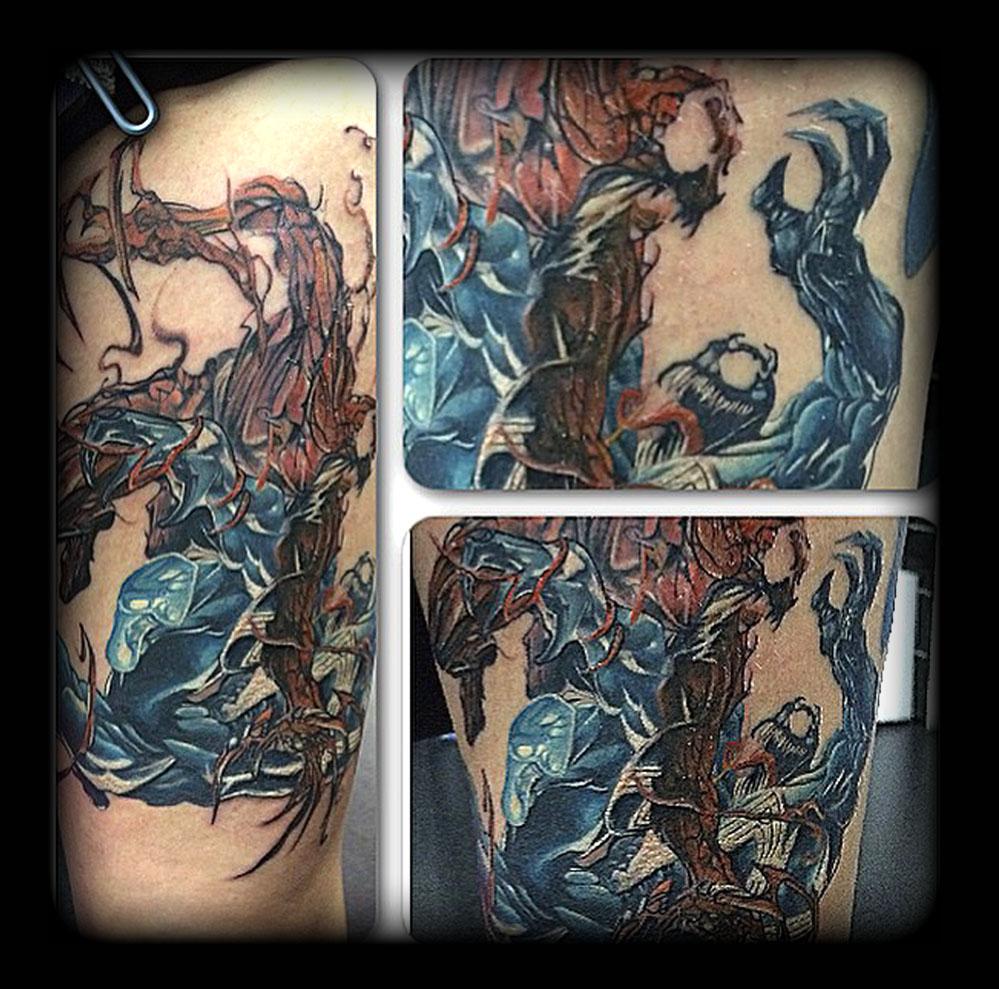 Venom Carnage Tattoo: Venom Vs Carnage By State-of-art-tattoo On DeviantArt