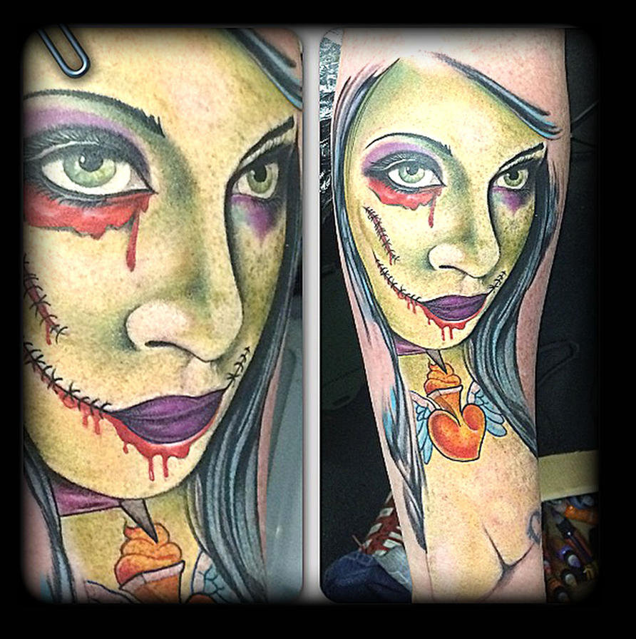 Zombie by state-of-art-tattoo