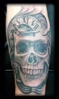 Skull clock by state-of-art-tattoo