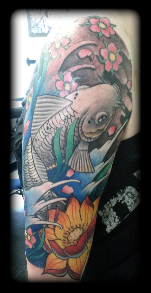 Koi by state of art tattoo on deviantart for State of the art tattoo